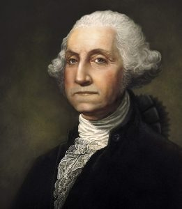 Digital portrait of George Washington, America's founding father and first president.